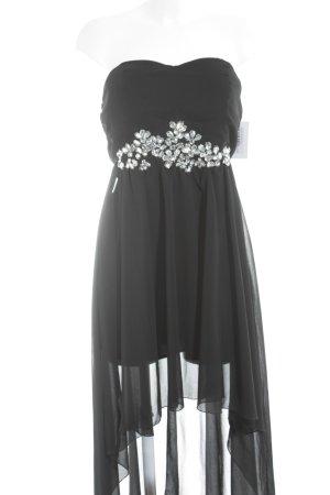 AX Paris Vokuhila-Kleid schwarz-silberfarben Elegant