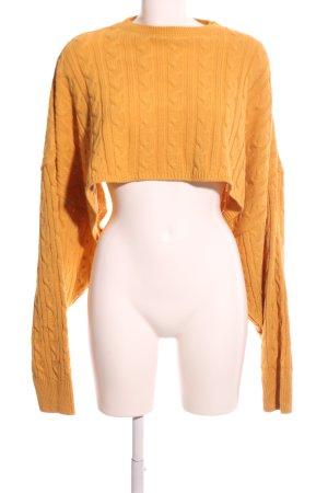 AX Paris Cable Sweater light orange cable stitch casual look