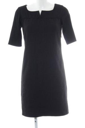 Axara Robe trapèze noir style simple