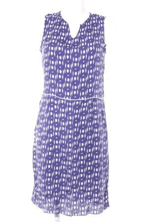 Axara Jerseykleid lila-weiß Farbtupfermuster Casual-Look