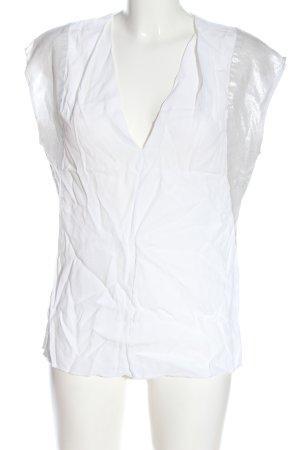 Axara Paris Mouwloze blouse wit casual uitstraling