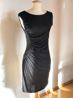 Axara Paris Kleid Cocktailkleid Etuikleid Schwarz Gerafft