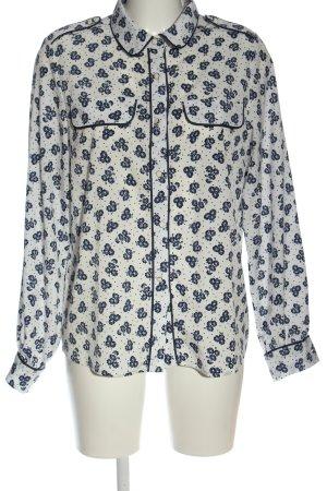 Axara Paris Shirt met lange mouwen wolwit-blauw volledige print