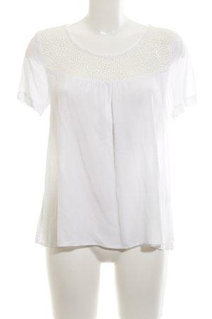 Axara Transparenz-Bluse weiß Casual-Look