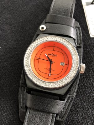 Axcent of Scandinavia Watch With Leather Strap black-orange