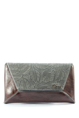 Axel Kopertówka brązowy-jasnoszary Wzór w kwiaty W stylu casual
