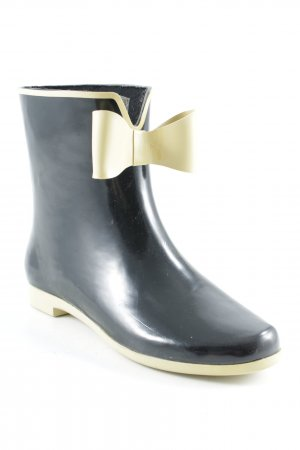 Axel Wellies black-pale yellow Bow detail