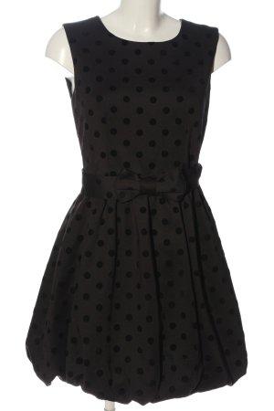 Axel Mini Dress black spot pattern elegant