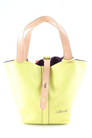 Axel Sac porté épaule jaune primevère-rose chair style décontracté