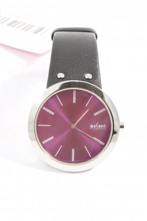 Axent Watch With Leather Strap black elegant