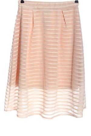 Ayanapa Midi Skirt natural white striped pattern casual look