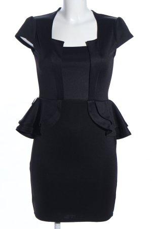 Ayanapa Schößchenkleid schwarz Business-Look