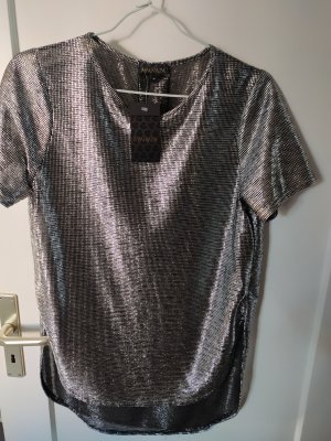 Ayanapa Oversized Shirt black-silver-colored