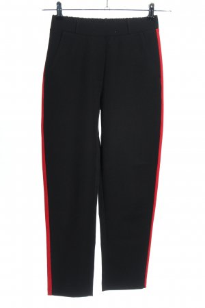 Ayanapa Stoffhose schwarz-rot Streifenmuster Casual-Look