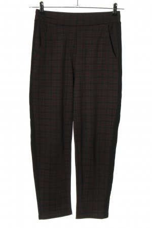 Ayanapa Pantalone jersey nero-rosso stampa integrale stile casual