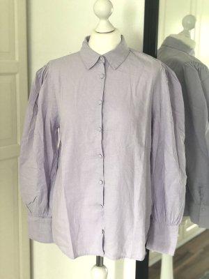 Blusa de lino lila