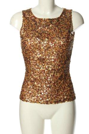 Aygill's Top koszulowy brąz-złoto Błyszczący