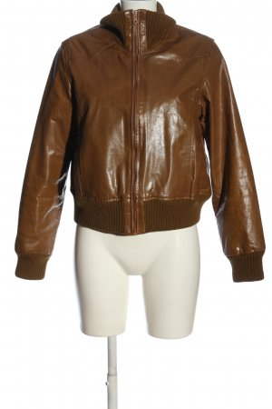 Aygill's Faux Leather Jacket bronze-colored casual look
