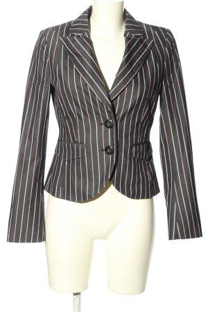 Aygill's Short Blazer light grey-white striped pattern casual look