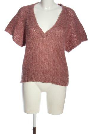 Aygill's Sweter z krótkim rękawem różowy W stylu casual