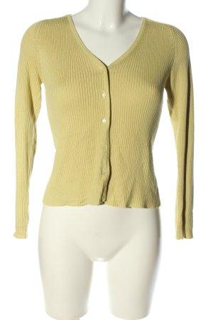 Aygill's Veste en tricot jaune primevère style décontracté