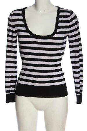 Aygill's Koszulka z długim rękawem czarny-biały Wzór w paski