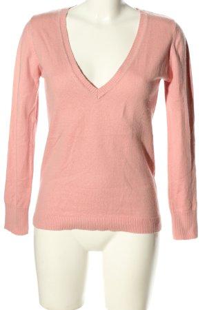 Aygill's Sweter z dekoltem w kształcie litery V różowy W stylu biznesowym