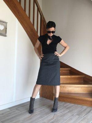 Aygill's Wełniana spódnica ciemnoszary Styl klasyczny