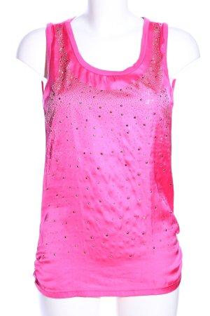 AZAKA Paris Basic Top pink Casual-Look