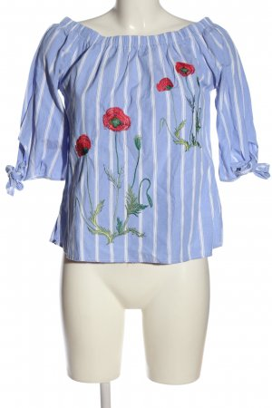 AZAKA Paris Carmen shirt bloemenprint casual uitstraling