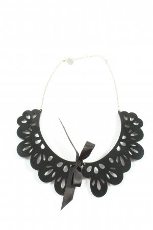 Azone Collier nero-argento elegante