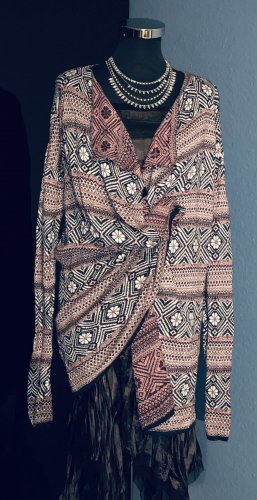 Multiblu Crochet Cardigan black-red