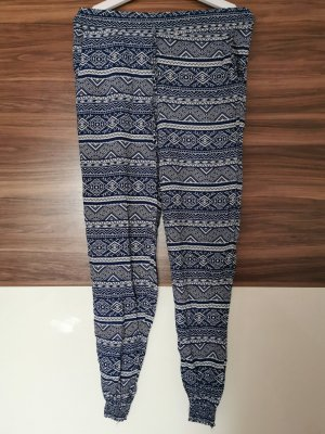 Pantalone alla turca bianco-blu