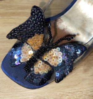 Sandały klinowe na obcasie Wielokolorowy Tkanina z mieszanych włókien