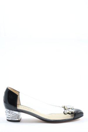 Azurée Ballerines en cuir verni noir style décontracté