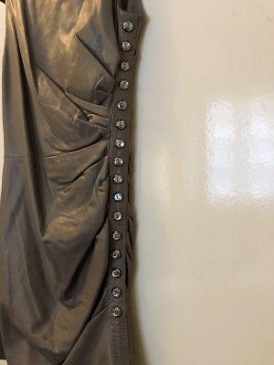 Azzaro Lederkleid mit Schmucksteinen neu