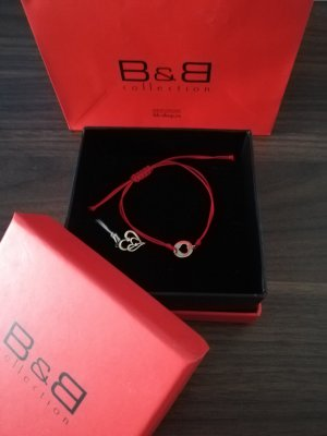 B&C collection Bransoletka czerwony