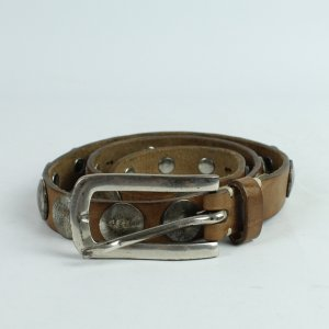 Studded Belt brown-silver-colored