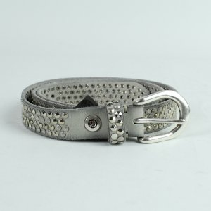Studded Belt grey-silver-colored