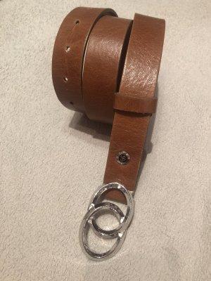 B Belt Ceinture en cuir brun-cognac cuir