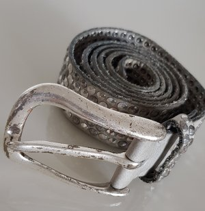 B Belt Leather Belt silver-colored-light grey