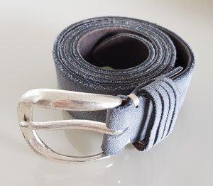 B Belt Cinturón de cuero gris Cuero
