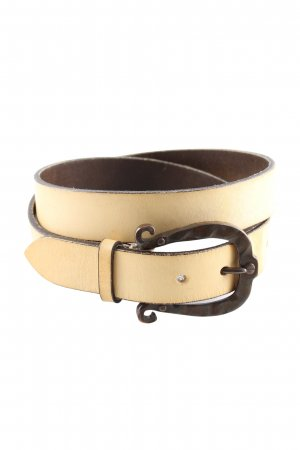 B Belt Leather Belt cream casual look