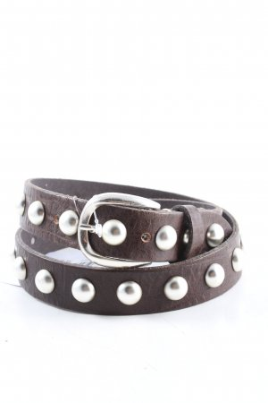 B Belt Cintura di pelle marrone stile casual