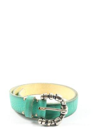 B Belt Cintura in ecopelle turchese stile casual