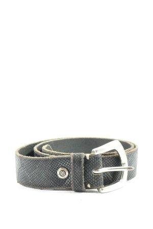 B Belt Cinturón de cuero de imitación gris claro estampado de animales
