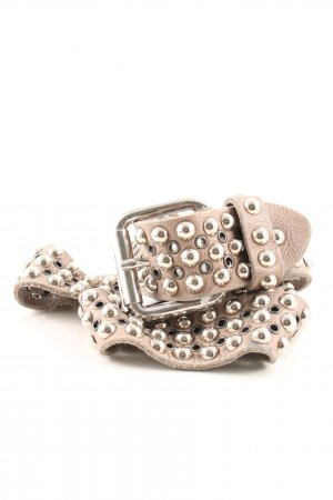 Studded Belt natural white casual look