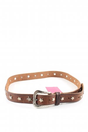 B Belt Cintura borchiata marrone-bronzo stile casual