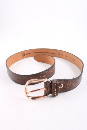 B Belt Stoffgürtel bronzefarben-nude Allover-Druck Business-Look