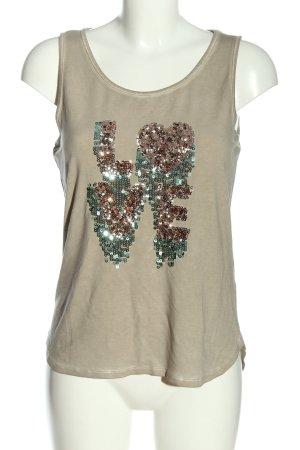 b.c. best connections Mouwloze blouse prints met een thema casual uitstraling